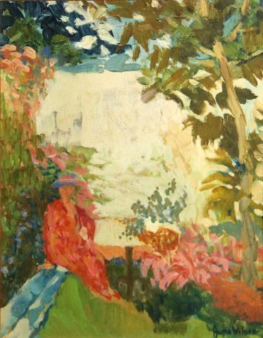 Jane Wilson (American, born 1924) Garden wall, 1958 14 1/4 x 11 1/4in