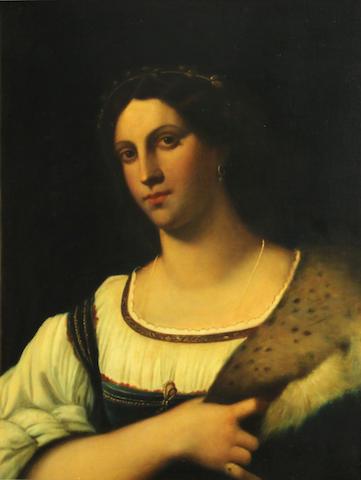 Italian School A portrait of a woman 24 3/4 x 20 1/2in