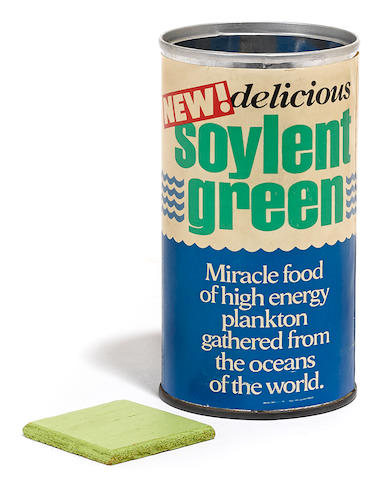 A Soylent Green can and cracker