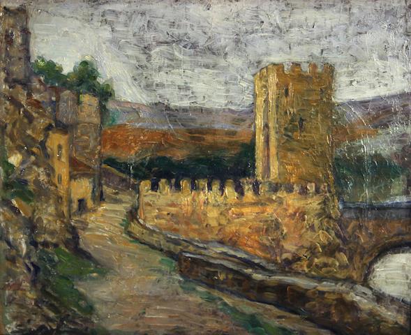 William Zorach (American, 1887-1966) Bridge at Avignon, France, circa 1911 13 x 16in