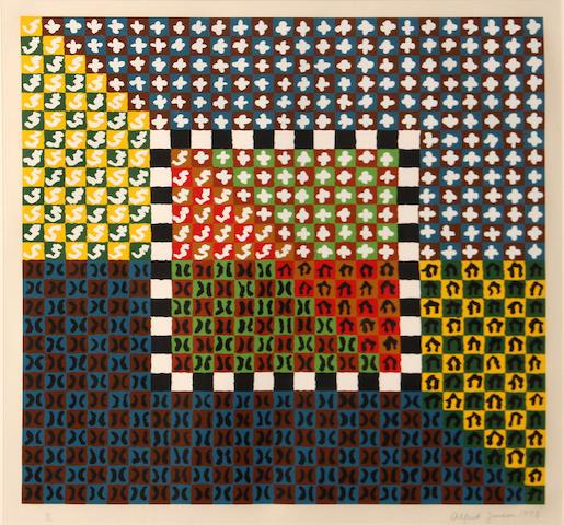 Alfred Jensen (American, 1903-1981); Portfolio; (4)