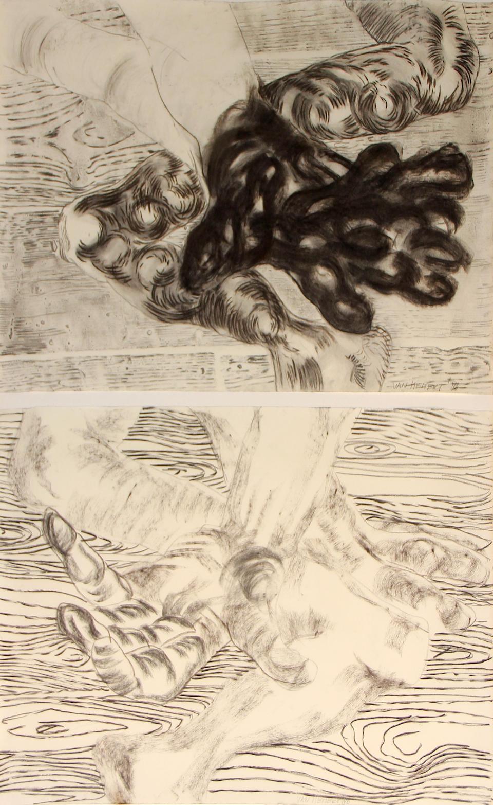 Frank van Hemert (Dutch, born 1956) The Places I Sleep, 1986 (diptych); The Places I Sleep, 1986 (diptych) (2) each 19 x 26in