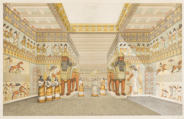 LAYARD, AUSTEN HENRY. 1817-1894. The Monuments of Nineveh. From Drawings Made on the Spot. [First and] Second Series. London: John Murray, 1853.