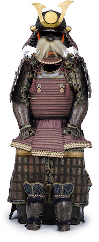 A fine armor with a ni mai do Helmet by Echigo Munetsugu, Edo period (19th century)