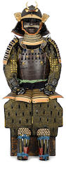 An armor with a russet-iron do Edo period (18th century)