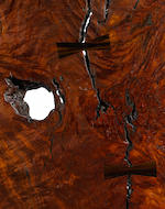 A Sam Maloof Woodworkers Inc. natural edge red jarrah, walnut and macassar ebony table 2013
