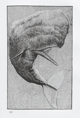 ARION PRESS—MOSER, BARRY, illustrator. MELVILLE, HERMAN. Moby-Dick; or, The Whale. San Francisco: Arion Press, 1979.
