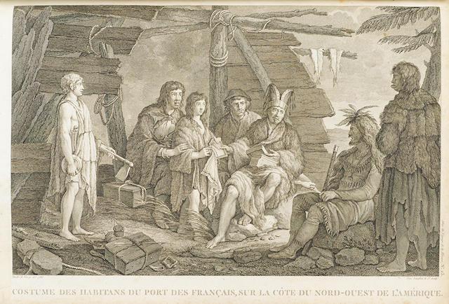LA PÉROUSE, JEAN FRANCOIS GALAUP DE. 1741-1788. Voyage de La Pérouse autour du monde. Paris: Plassan, 1798.
