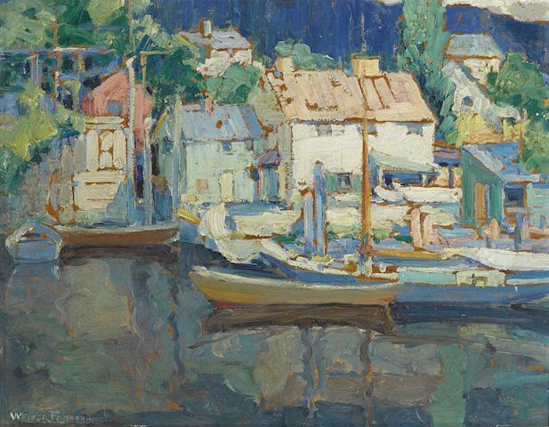 Walter Farndon (American, 1876-1964) Harbor 14 x 18in