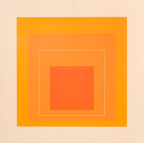Josef Albers (1888-1976); WLS-VI, from White Line Squares (Series I);