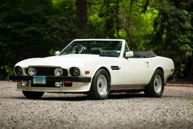One-owner, less than 22,000 original miles,1986 Aston Martin V8 Volante  Chassis no. SCFCV81C1GTL15468 Engine no. V/585/5468/LFA