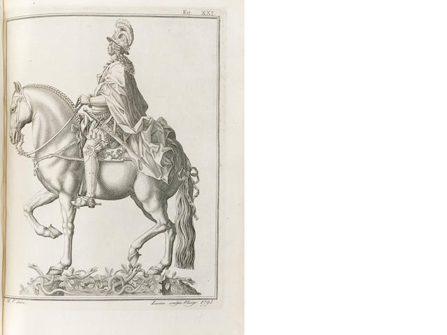 CASTRO, JOACHIM MACHADO DE. 1731-1822. Descripção Analytica de Execução de Estatuta Equestre Erigida em Lisboa à do Gloria Senhor Rei Fidelissimo D. José I. Losboa: Na Impressam Regia, 1810.