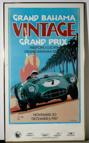 Two posters of the Grand Bahama Vintage GP by Simon,