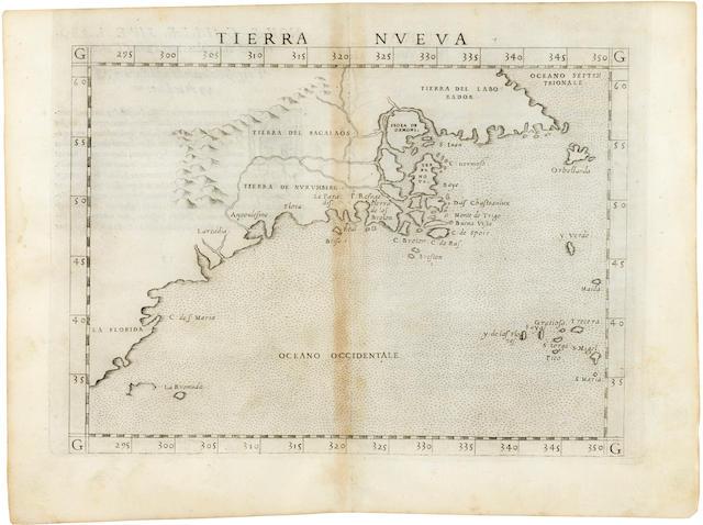 PTOLEMAEUS, CLAUDIUS. 90-168. MOLETI, GIUSEPPE, ed. Geographia.... Venice: Vincenzo Valgrisi, 1562.