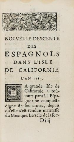 VERBIEST, FERDINAND. 1623-1688. Voyages de l'Empereur de la Chine, dans la Tartarie, ausquels on a Joint une Nouvelle découverte au Mexique. Paris: Estienne Michallet, 1685.