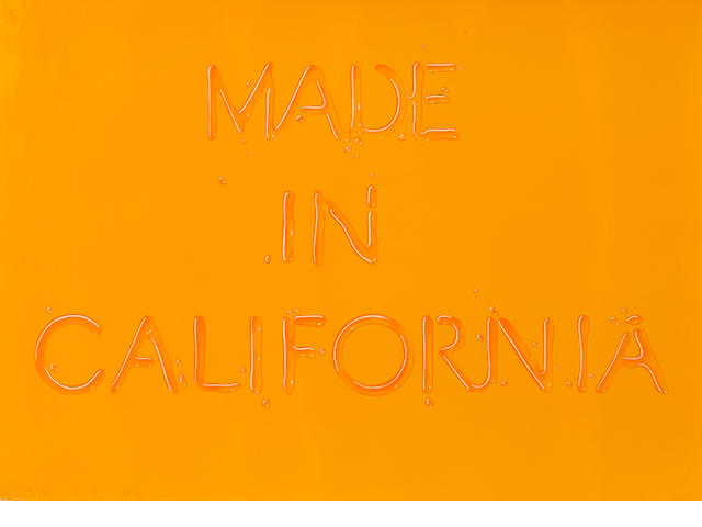 Edward Ruscha (born 1937); Made in California;