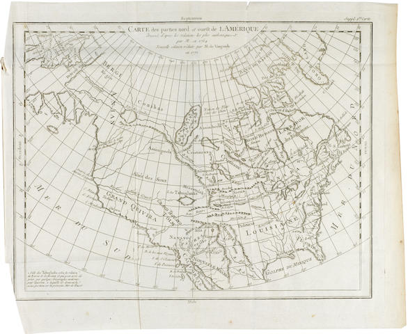 [DIDEROT, DENIS and JEAN LE ROND D'ALEMBERT.] 10 folding engraved maps of the American Northwest,