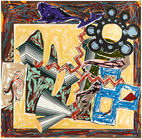 Frank Stella (born 1936); Then Came a Fire and Burnt the Stick, pl. 5, from Illustrations after El Lissitzky's Had Gadya;