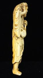An ivory netsuke of Gamma sen'nin Edo period, (18th century)