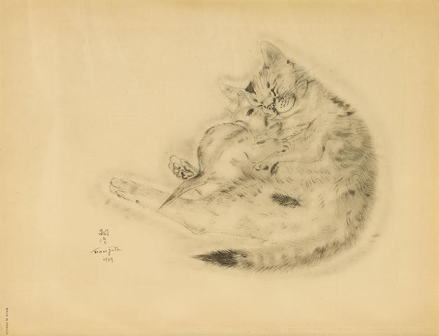 Léonard Tsuguharu Foujita (1886-1968); 14 Plates, from A Book of Cats; (14)