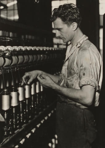 Lewis Wickes Hine (1874-1940); Worker, Silk spinning machine;