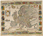 HONDIUS, JODOCUS and JAN JANSSONIUS. MAPS OF THE FOUR CONTINENTS.