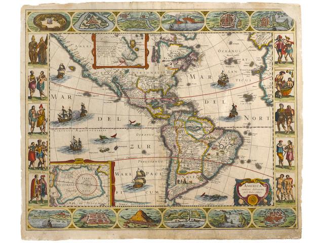 HONDIUS, JODOCUS and JAN JANSSONIUS. MAPS OF THE FOUR CONTINENTS.