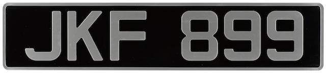 Four British License plates,