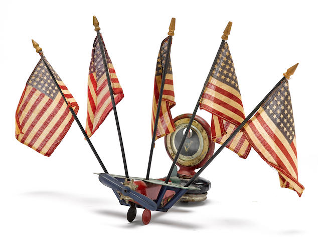 "A ""Spirit Of St.Louis"" radiator cap embelishment, American, c. 1927,"
