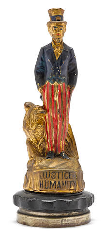 An 'Uncle Sam' Justice Humanity mascot by L.V. Aronson, American, c. 1915,