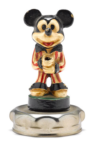 A scarce pre-war patriotic Mickey Mouse mascot depicting the early Disney cartoon character, c.1930s,