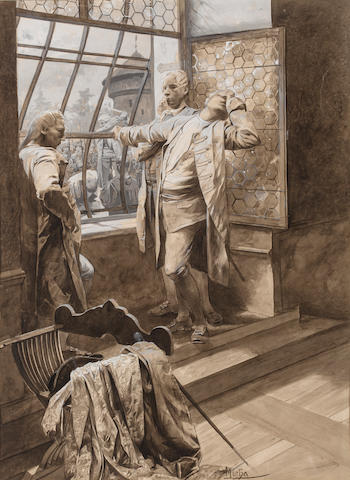 Alphonse Mucha (Czech, 1860-1939) Exécution de Katte 19 x 14in (48.3 x 35.6cm)