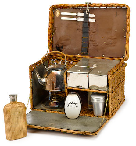 A four person picnic set by Coracle, c. 1910,