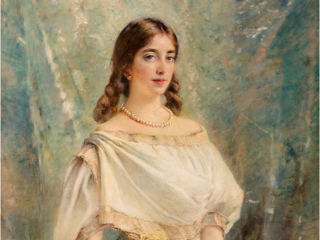 Konstantin Egorovich Makovsky (Russian, 1839-1915) Portrait of Olga, the artist's daughter