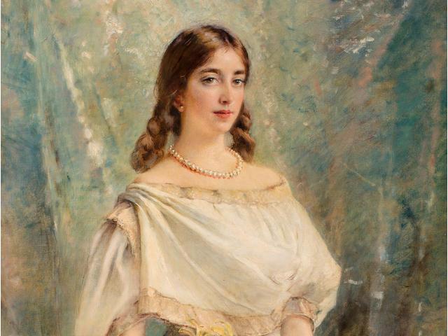 Konstantin Egorovich Makovsky (Russian, 1839-1915) Portrait of Olga, the artist's daughter