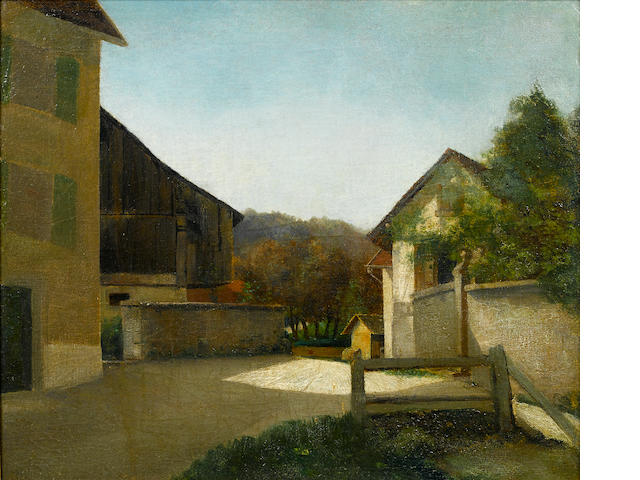 DIEGO RIVERA (1886-1957) Rincon de un pueblo de Belgica 19 11/16 x 23 7/16in. (50 x 59.5cm)