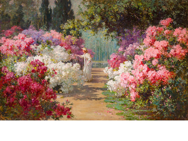 Abbott Fuller Graves (American, 1859-1936) In bloom 40 x 62in