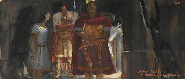 A scene study for Ben-Hur