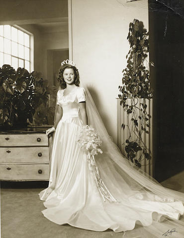 A Shirley Temple wedding photograph