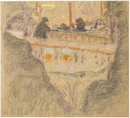 EDOUARD VUILLARD (1868-1940) Les deux bocks 18 11/16 x 20 9/16in. (47.5 x 52.3 cm)
