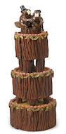 David James Gilhooly (born 1943) Rich Beaver Wedding Cake, 1978 35 x 13 x 13in. (88.9 x 33 x 33cm)