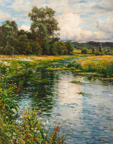 Louis Aston Knight (American, 1873-1948) A quiet afternoon 32 1/4 x 26in (82 x 66cm)