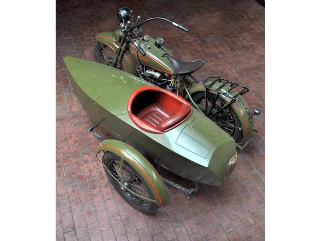 1926 Harley-Davidson JD w/ Sidecar Frame no. 26J8035