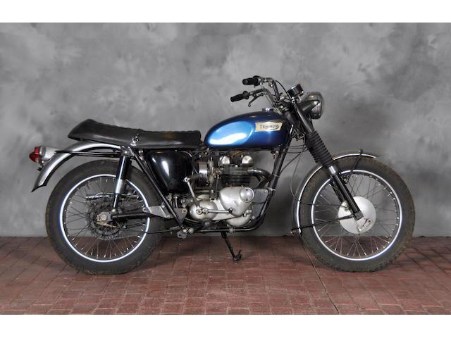 1966 Triumph T100C Frame no. T100CH51079