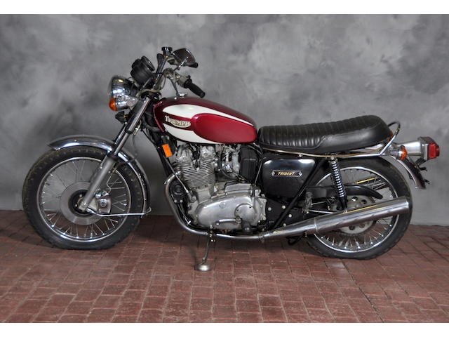 1974 Triumph T160 Frame no. T160AK00968