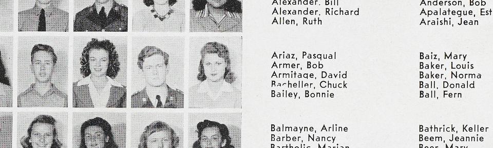 A Marilyn Monroe high school year book