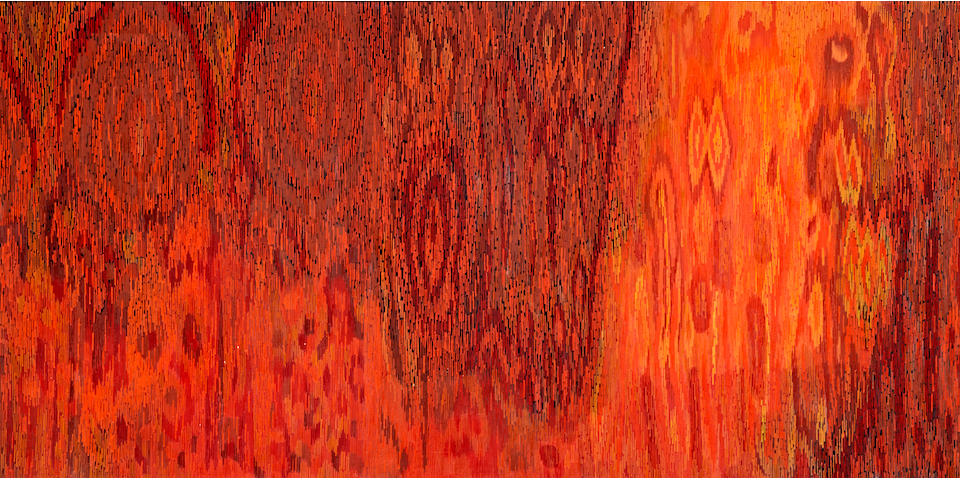 Lee Mullican (1919-1998) Meditations on a Landscape, 1963 35 x 90in. (88.9 x 229cm)