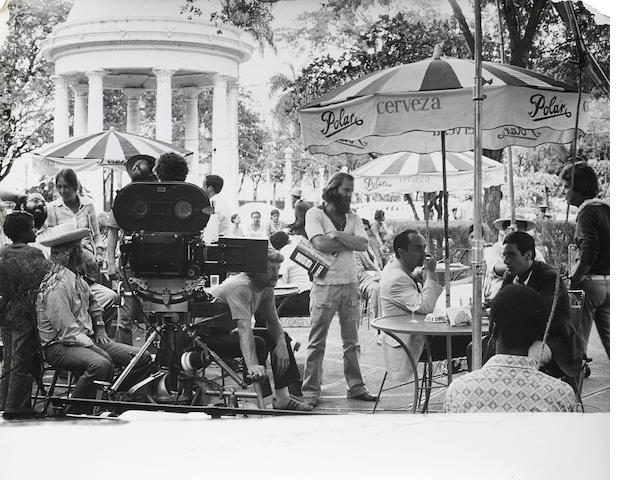 group of behind-the-scenes photographs from The Godfather Part II