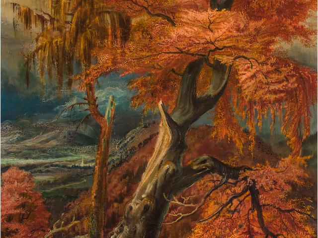 OTTO DIX (1891-1969) Zerschmetterter Baum 33 1/2 x 25 1/2in. (85 x 64.5 cm)