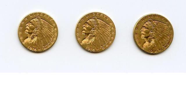 1914-D $2.5 (3)